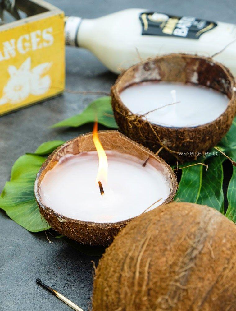Diy Kokosnuss Kerzen Candle Decor Velas Fabricacion De Velas