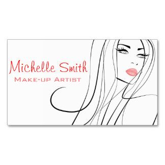 Woman face make up artist business card design business cards woman face make up artist business card design reheart Image collections