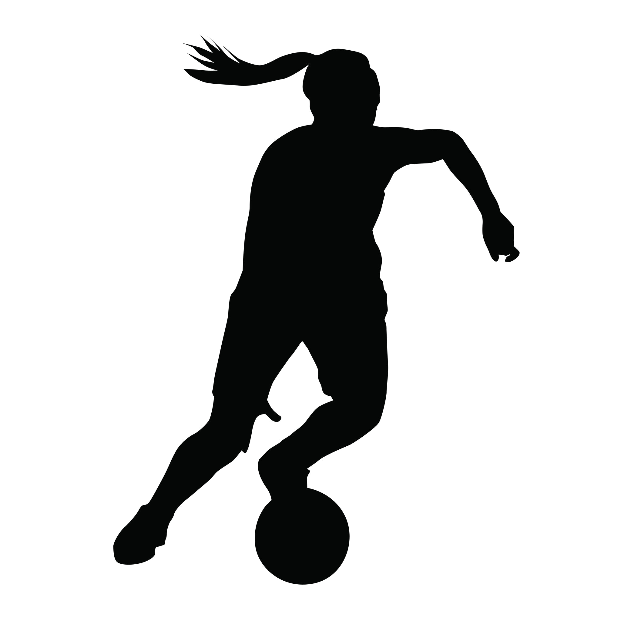 Girls Playing Soccer Silhouette Vector Soccer Silhouette Girl Playing Soccer Football Silhouette