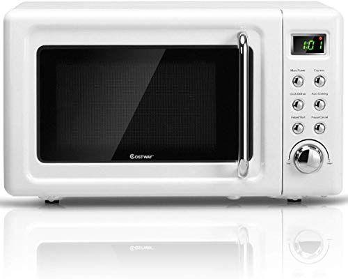 Enjoy Exclusive For Costway Retro Countertop Microwave Oven 0 7cu