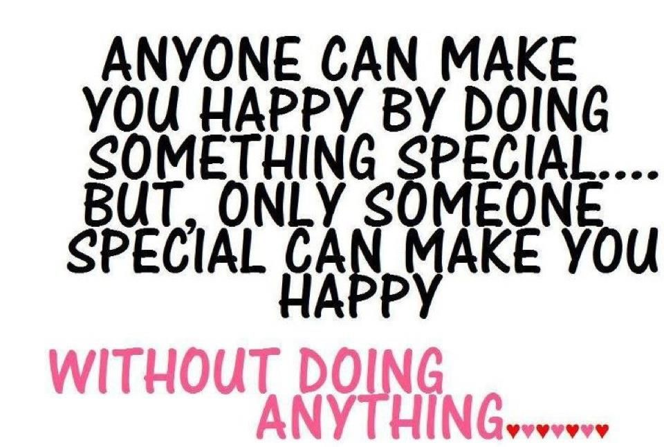 someone special = happiness