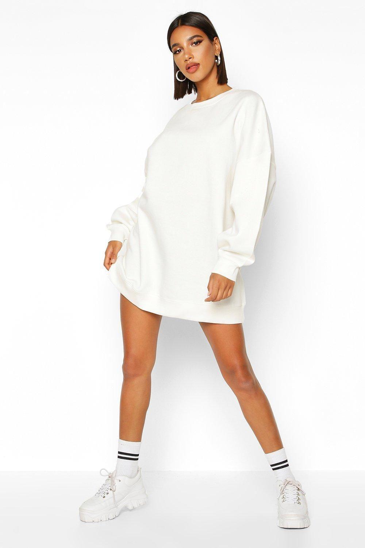 Extreme Oversized Crew Neck Sweat Dress Boohoo Sweat Dress Bodycon Fashion Sweater Dress Oversized [ 1500 x 1000 Pixel ]