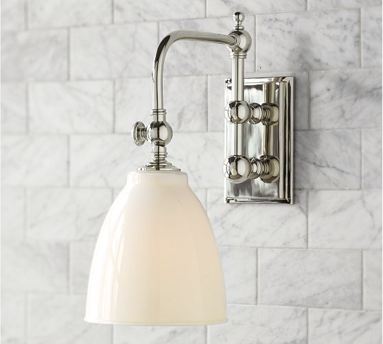 Covington Articulating Single Sconce Pottery Barn And Bath