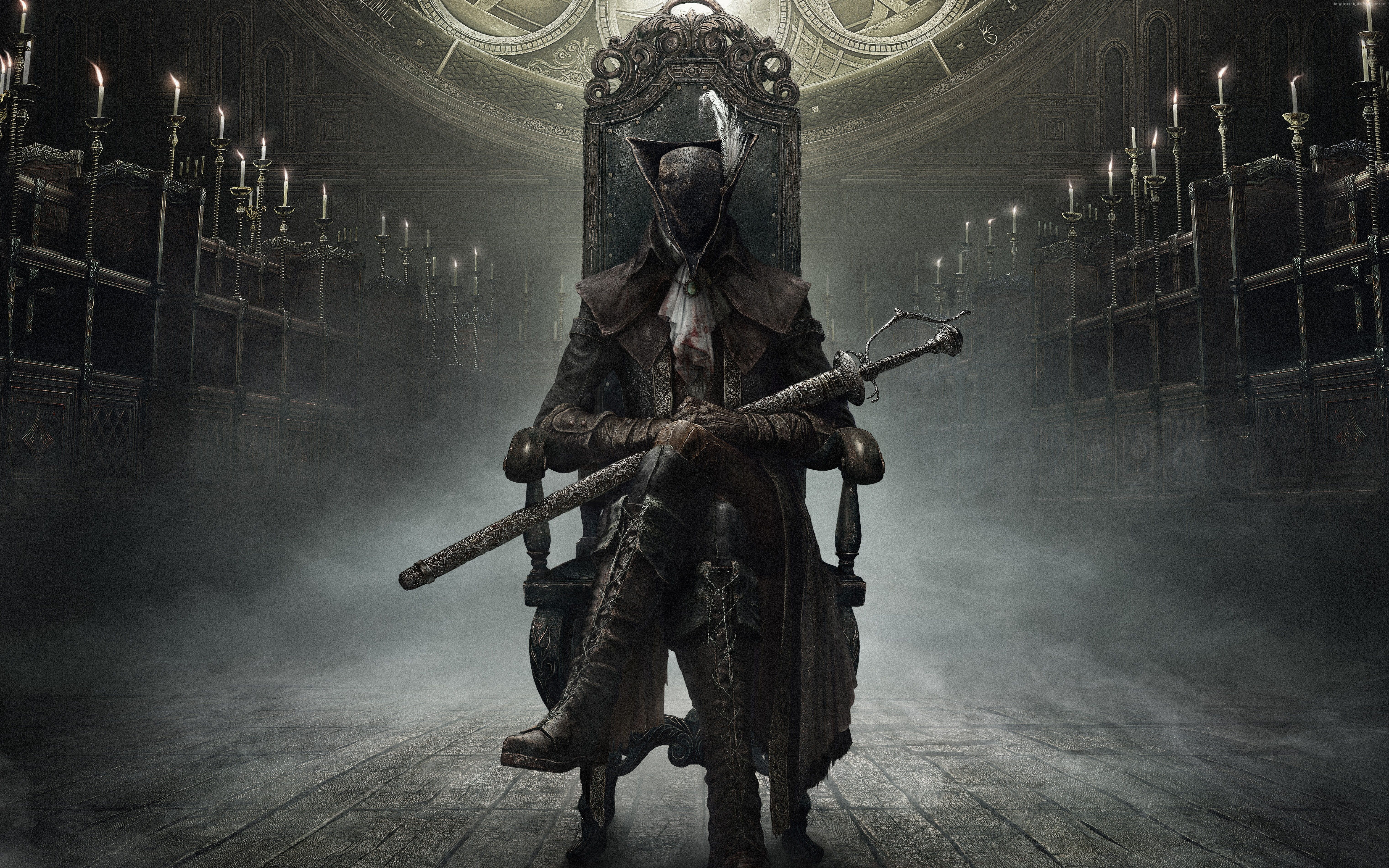 Fantasy Best Game Role Playing Rpg Bloodborne The Old Hunters Hunter Ps4 Action Horror 5k Wallpaper Hdwall Bloodborne Old Hunter Video Game Posters