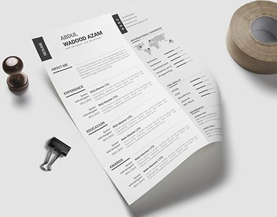 Really like this simple, clean resume design! For more resume - clean resume format