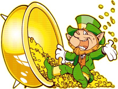 rich   rich lil  leprechaun swimming free in a clip art pot of    rich   rich lil  leprechaun swimming   in a clip art pot of gold