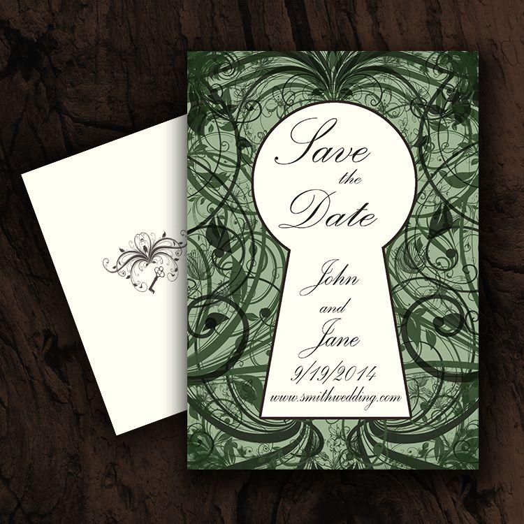 Save The Date Part Of The Secret Garden Wedding Invitation