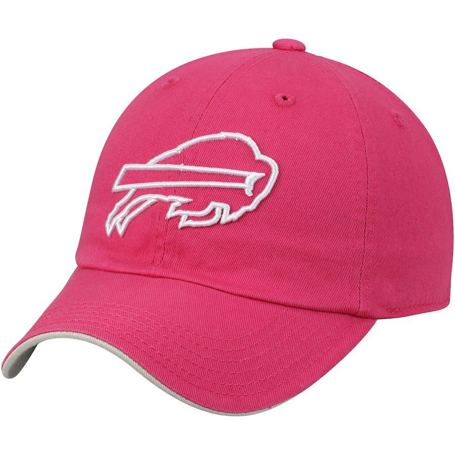 249e0688e Girls Youth Buffalo Bills Pink Primary Logo Slouch Adjustable Hat ...