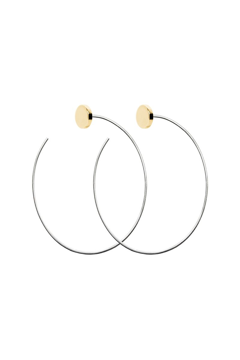 Alysson Sterling large circle hoops   sterling silver, gold plated   jt