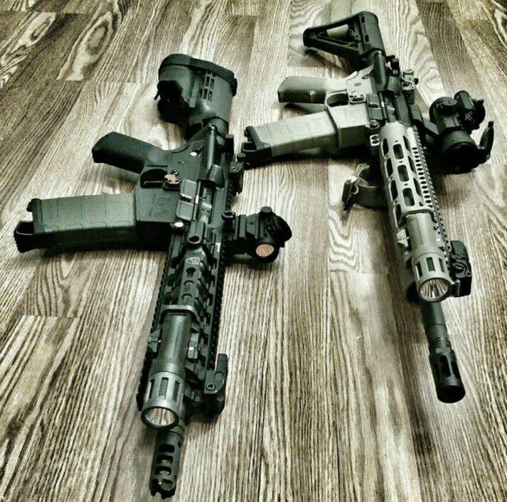 A couple of our built AR's, ar15 pistol and ar15 rifle.