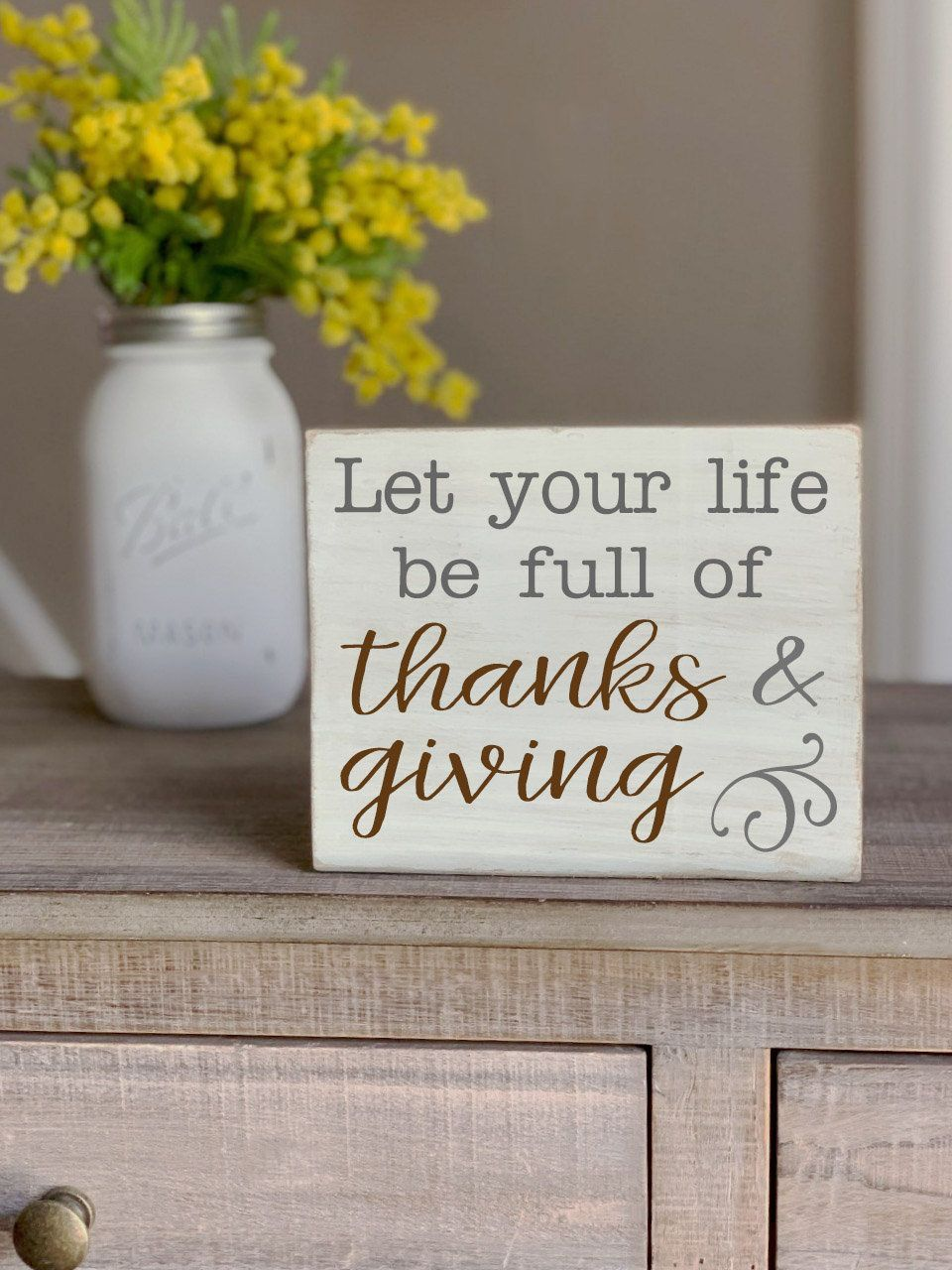 Let your life be full of THANKS & GIVING Mini Block Wood Sign, Fall Wooden Signs, Fall Mantle Decor, Fall Decor, Thanksgiving decor #fallmantledecor Let your life be full of THANKS & GIVING Mini Block Wood Sign, Fall Wooden Signs, Fall Mantle Decor, Fall Decor, Thanksgiving decor #FallDecor #HousewarmingGift #FunnyWoodenSign #HalloweenDecor #FallMantleDecor #FunnyPumpkinSign #ThanksgivingDecor #FunnySignForHome #WoodenThanksgiving #WoodenHalloween #fallmantledecor