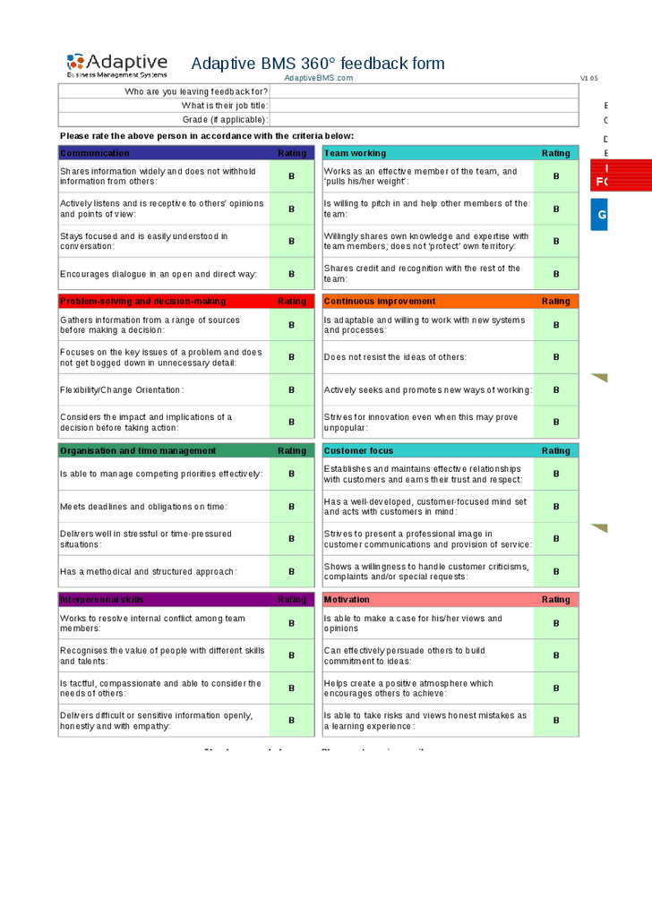 360 performance review template