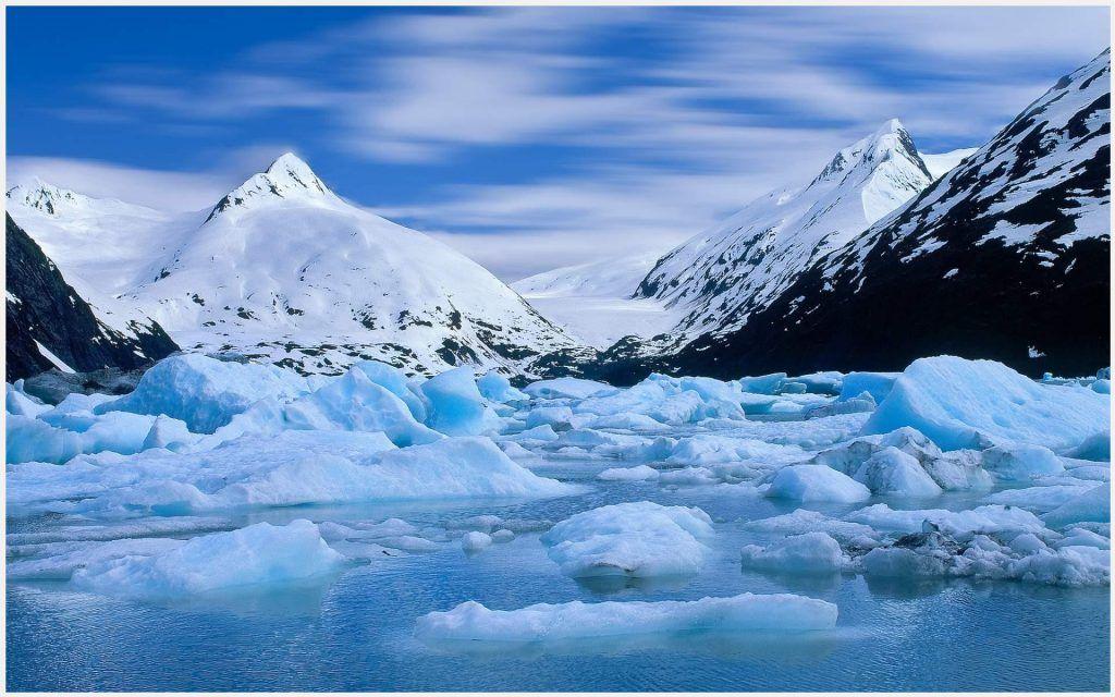 Snow Mountains And Lake Wallpaper Snow Mountains And Lake