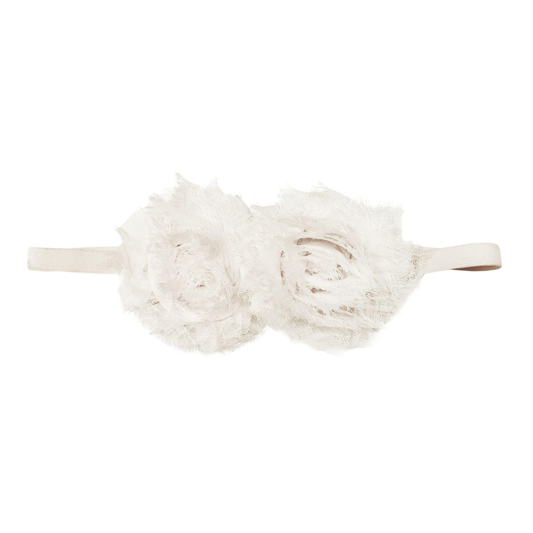 Shabby Chic Headband - White