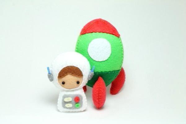 Felt Astronaut Doll and Rocket pattern on Craftsy.com
