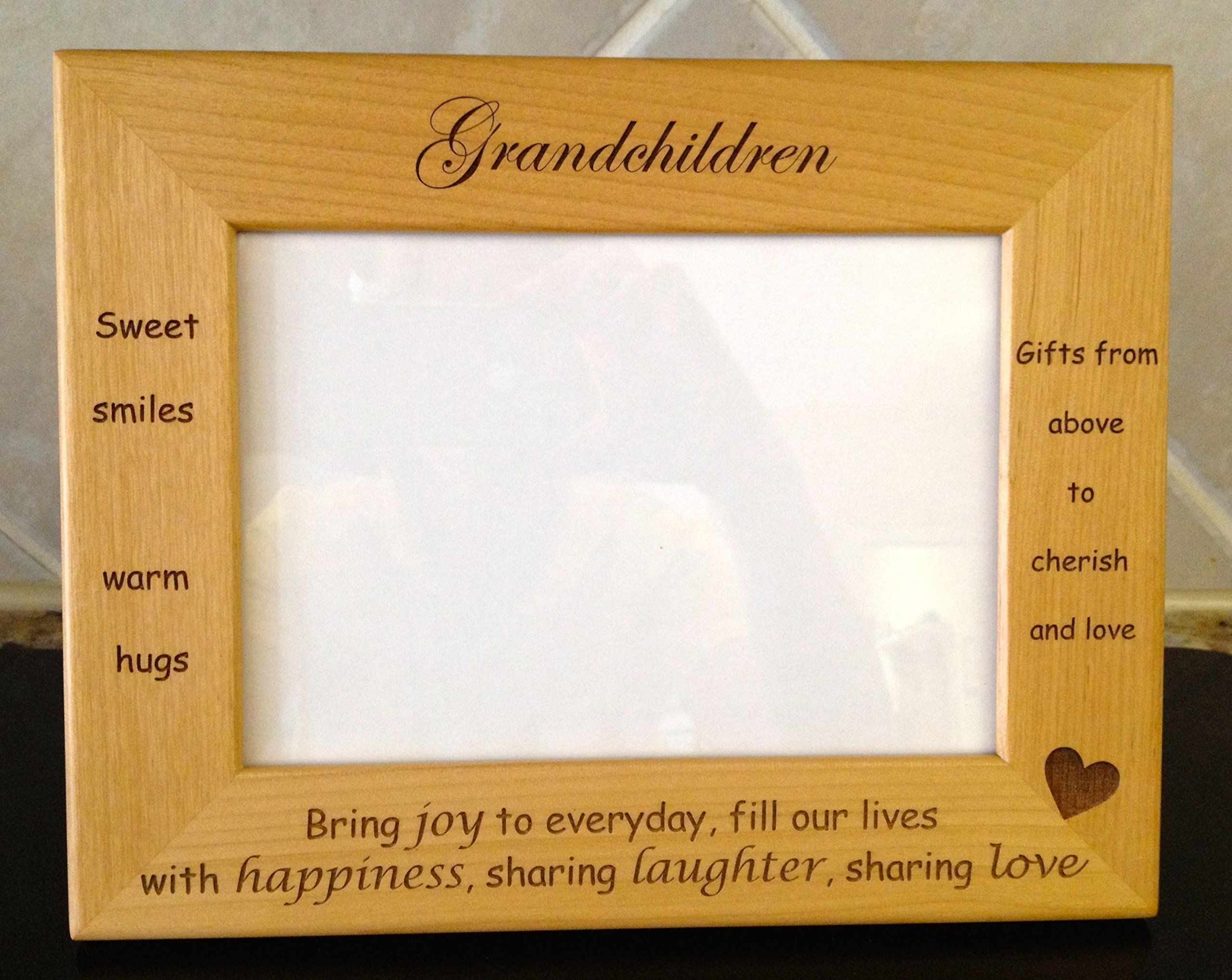 Grandchildren Laser Engraved Personalized 5 x 7 Photo Frame. This ...