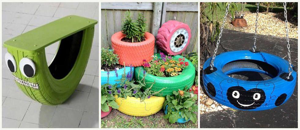 Neumaticos pintados para jardin buscar con google - Decoracion con neumaticos ...