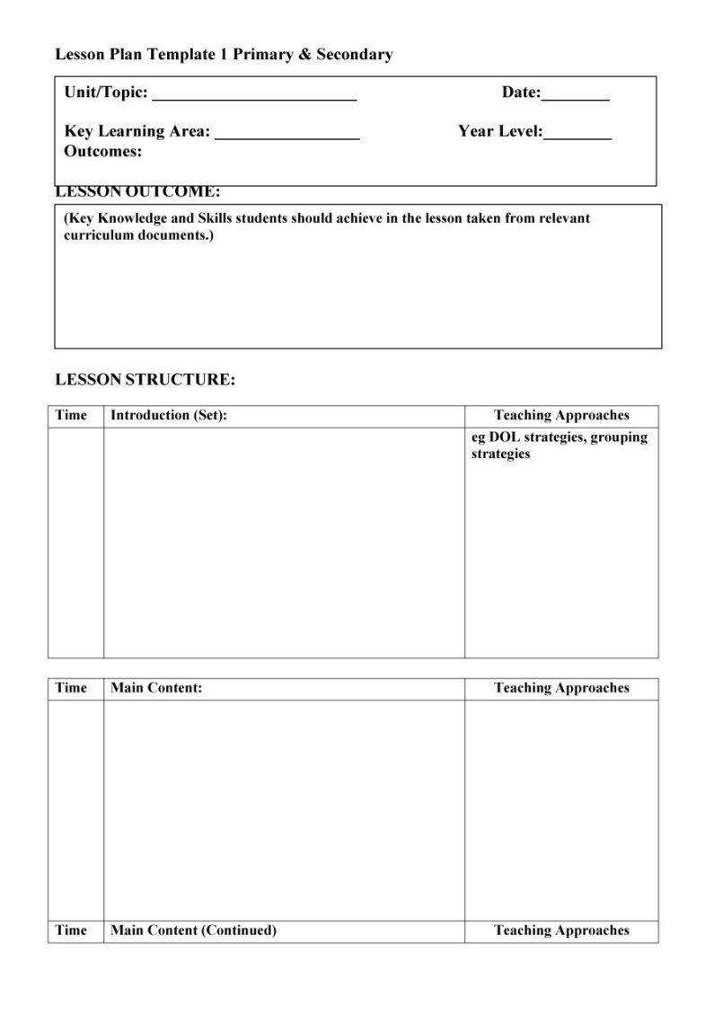 Dol 5th Grade Worksheet Worksheet Is Kindergarten Elementary School Year Blank Lesson Plan Template Lesson Plan Template Free Editable Lesson Plan Template