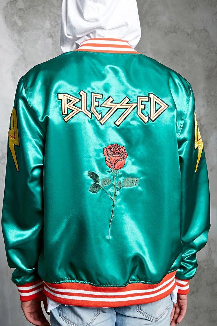 9ebafa865860 Blessed Embroidered Jacket   21 MEN - 2000268273   forever 21   men ...