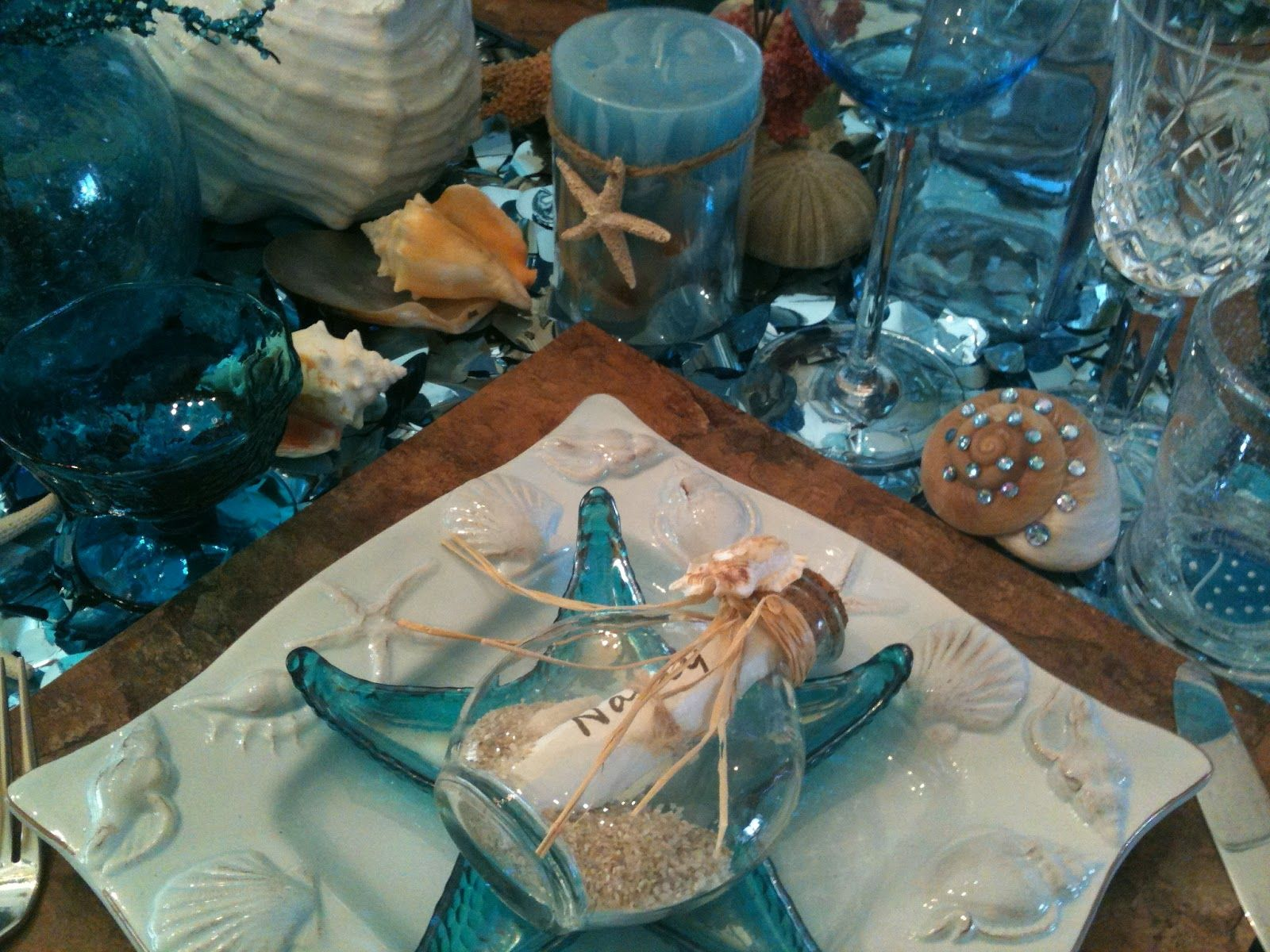 Theme Ideas For Dinner Parties Part - 35: Under The Sea Beach Themed Dinner Party
