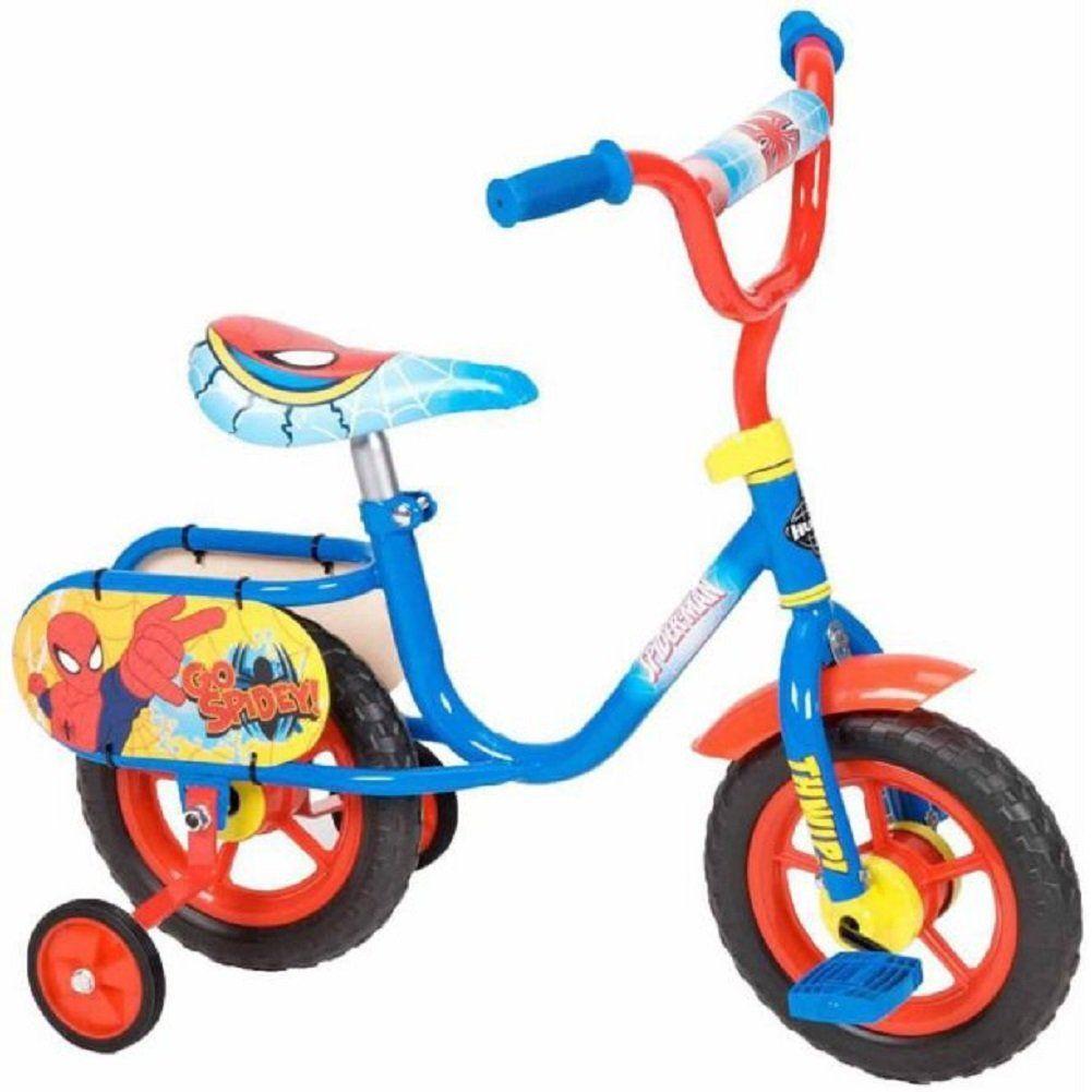 10 Inch Marvel Ultimate Spider Man Bike By Huffy Snagadiscount Bike With Training Wheels Boy Bike Kids Bike