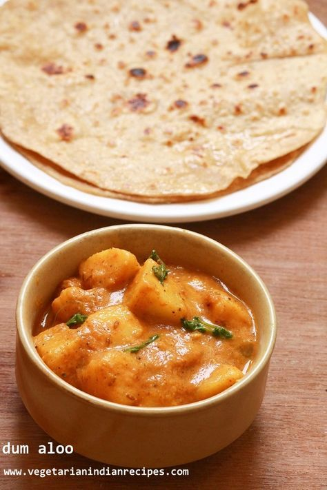 Dum aloo tasty side for chapati roti rice made with potatoes food forumfinder Images