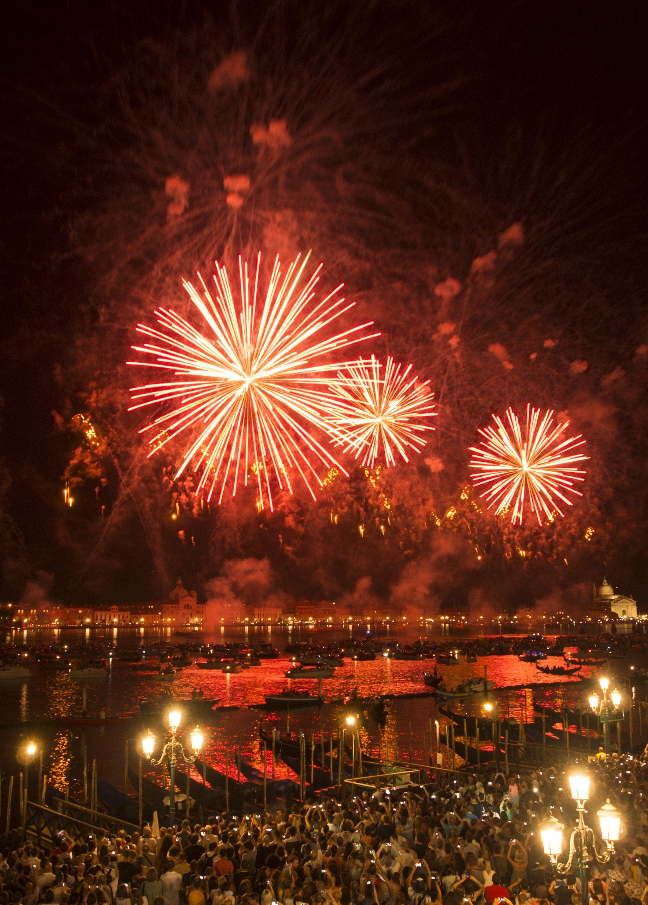 Meravigliosi fuochi d'artificicio!