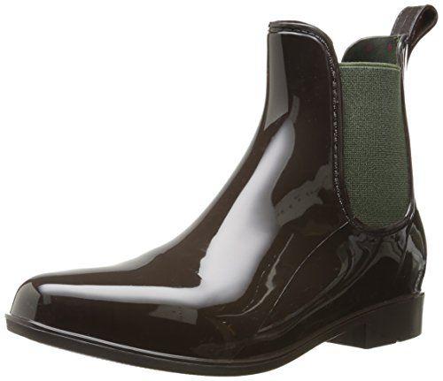 Lauren Ralph Lauren Women's Tally Rain Shoe, Dark Brown/Hunter ...