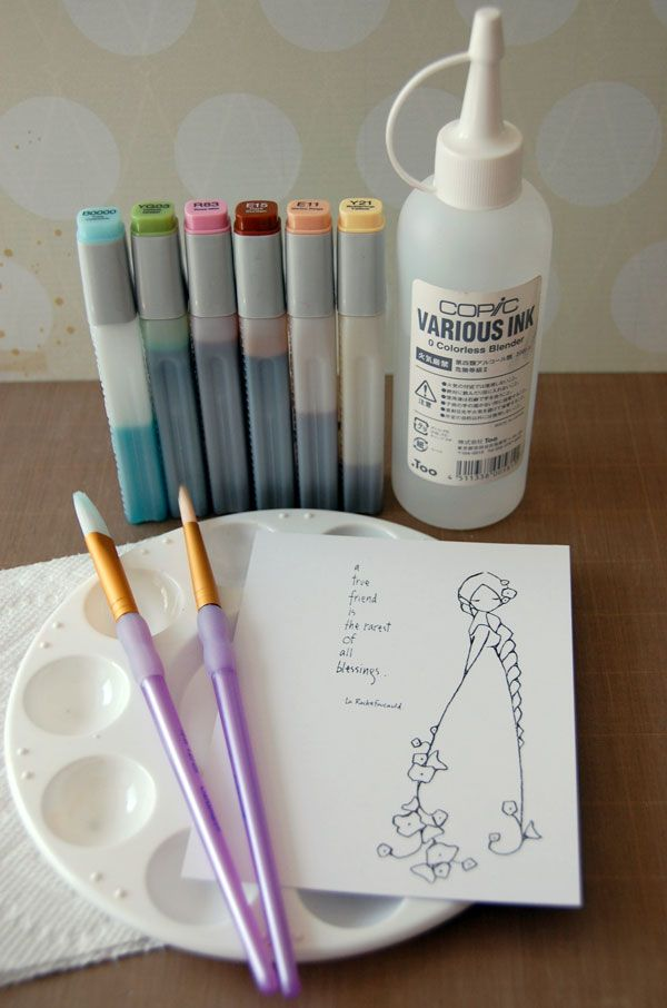 Achieve The Trendy Watercolor Look With Copic Markers Copic