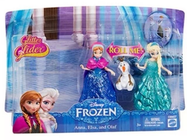Disney Frozen GLITTER GLIDER Elsa Anna Olaf MagiClip Figures