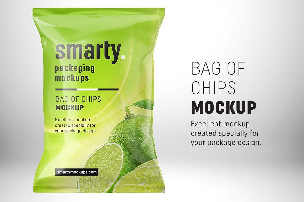 Download Chips Bag Mockup Bag Mockup Chip Packaging Mockup