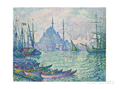 The Golden Horn Minarets 1907 Giclee Print Paul Signac Allposters Com Art New Art Painting