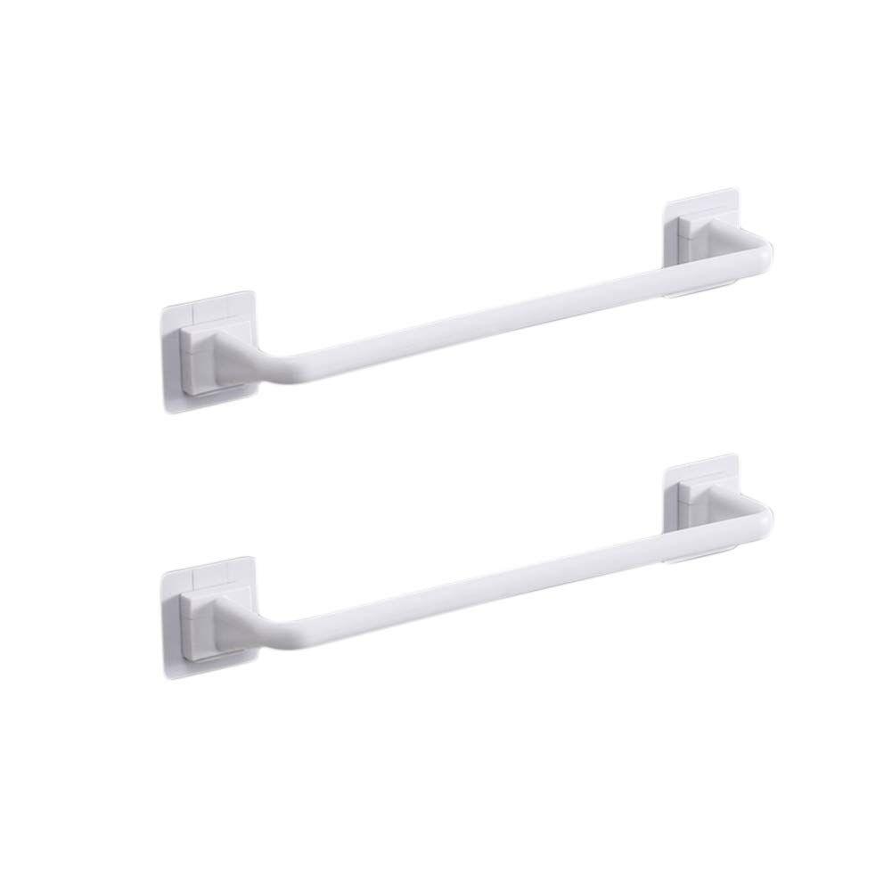 Amazon Com Liitrton Self Adhesive Towel Bar No Drill Hand Towel Hanger For Bathroom And Kitche Towel Hangers For Bathroom Kitchen Towels Storage Towel Storage