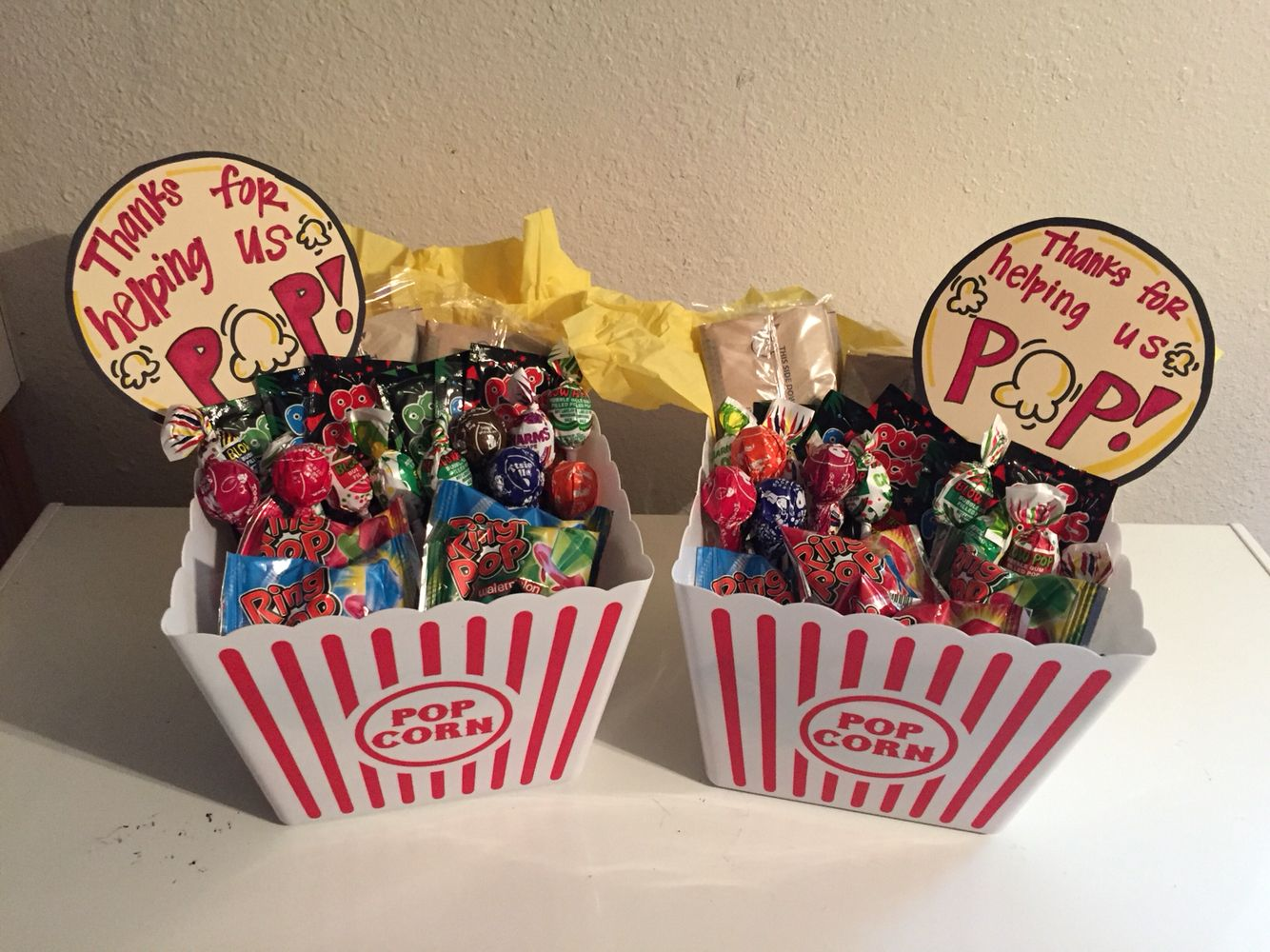 Thanks For Helping Us Pop - Thank You Gift Baskets for Labor and ...