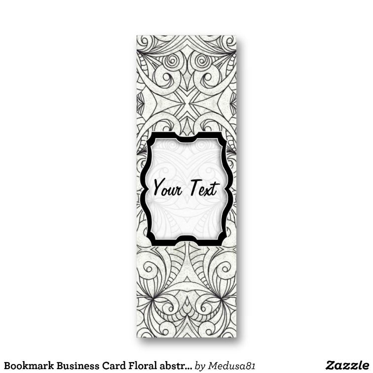 Bookmark Business Card Floral Abstract Background Zazzle Com Abstract Backgrounds Abstract Floral Abstract