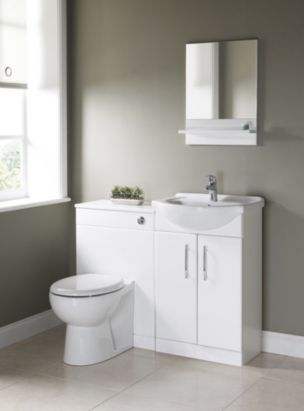 B Q White Vanity Unit Basin Departments Diy At B Q White Vanity Unit White Vanity Vanity Units