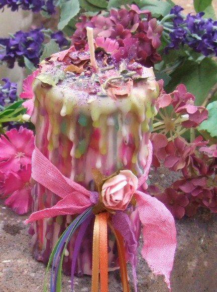 Floralia Beltane Enchanted Witchery Candle by MagickalCupboardShop, $21.95