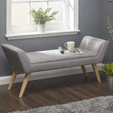 Albertslund Upholstered Bedroom Bench | Living Room ideas ...