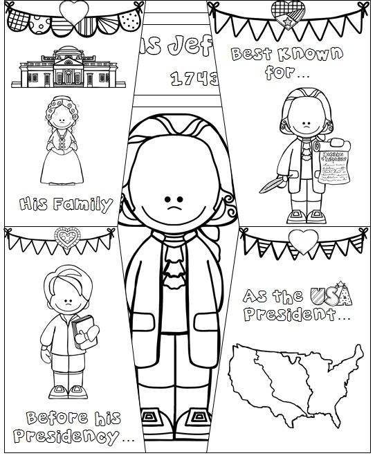 Thomas Jefferson foldable for Interactive Notebooks of