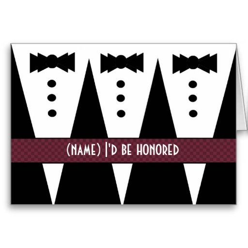 PRINCIPAL SPONSOR Invitation - 3 Tuxedos Card