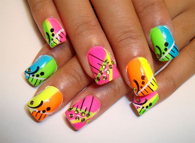 Amazing Funky Nail Design Ideas Nail Designs Pinterest Funky