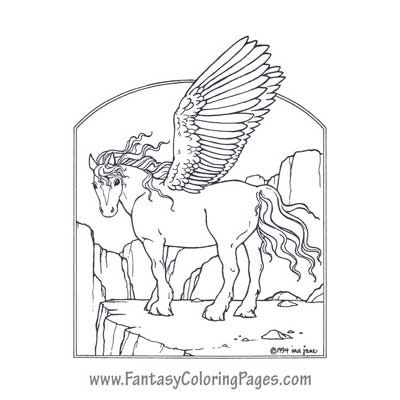 Unicorn & Pegasus Coloring Pages | Kleurplaat | Pinterest