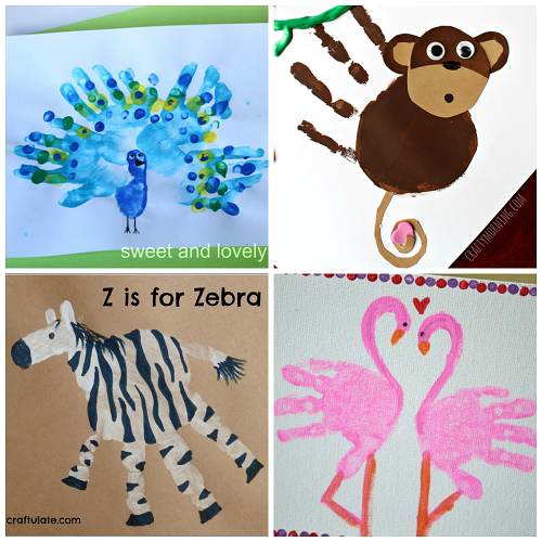 Fun Zoo Animal Handprint Crafts For Kids Crafty Morning Kid
