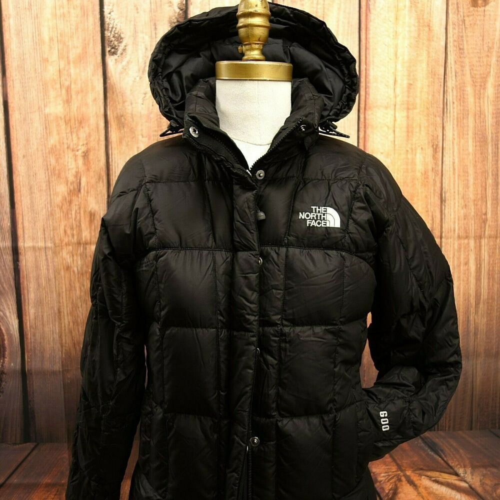 f9785d795 The North Face Womens Hooded 600 Goose Down Black Long Jacket Ski ...