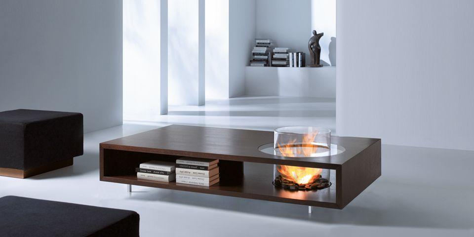 Bioethanol/Wand und Tisch: Coffee Fire | IN: CHIMENEAS / FIREPLACES ...