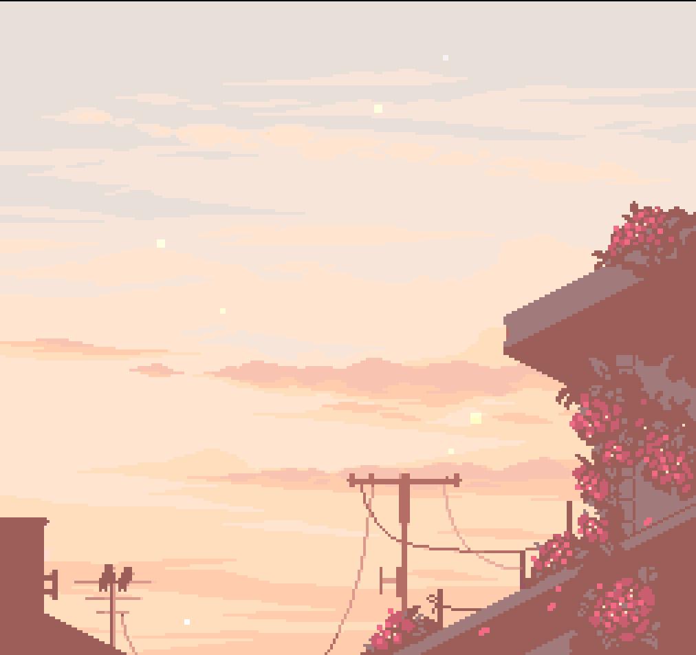Down The Color Wheel With Merrigo Pixel Art Landscape Pixel Art Aesthetic Anime
