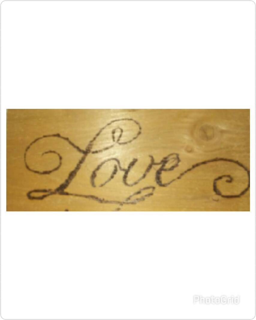 Love Woodburn Wall Decor - Rustic Home Decor - Romantic wall decor ...