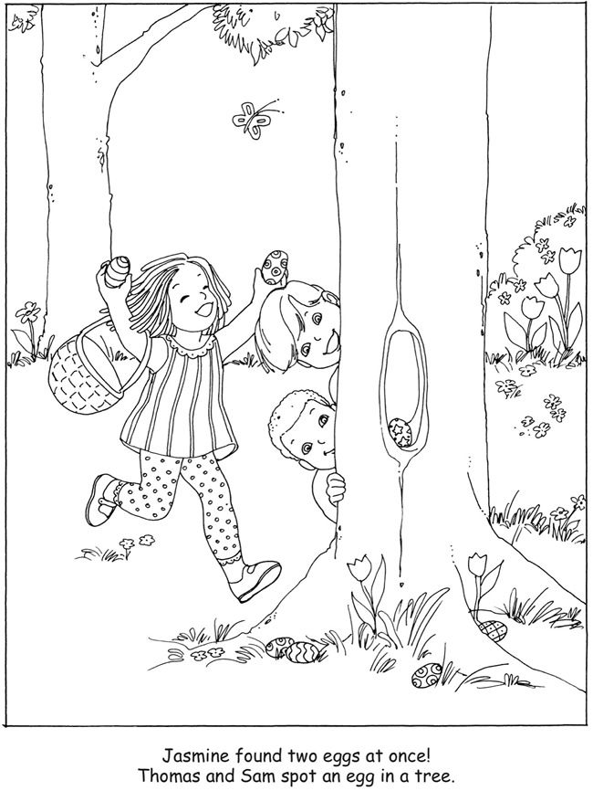 Easter Egg Hunt Coloring Book Dover Publications Dover Coloring