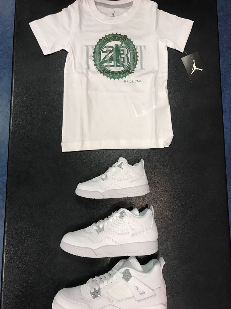 c92bd4d72d6 JORDAN RETRO 4 PURE MONEY BANK NOTE TSHIRT PRESCHOOL SIZE 4-7  Jordan   Everyday