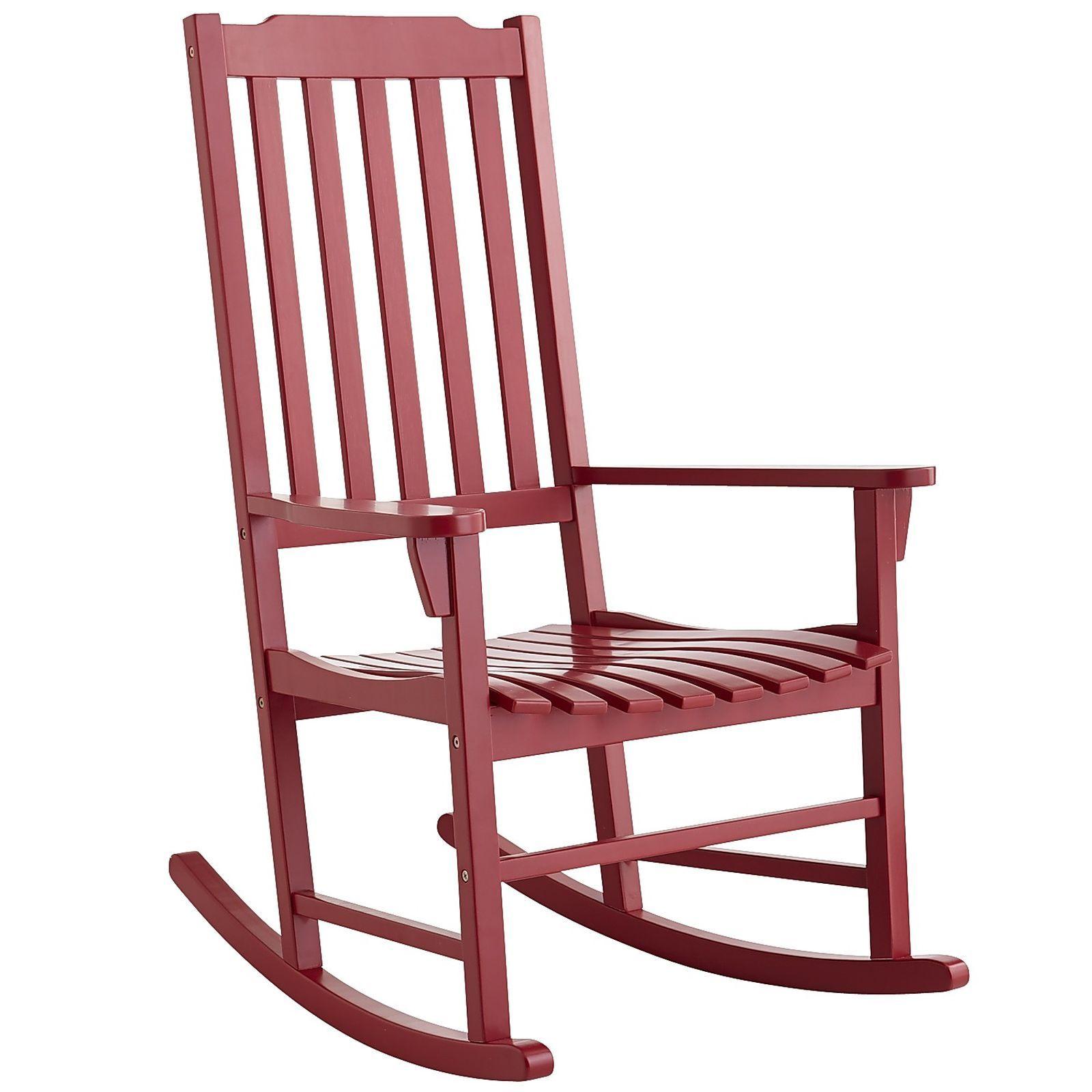Rock Point Rocker Red Outdoor Rocking Chairs Rocking Chair Porch Rocker